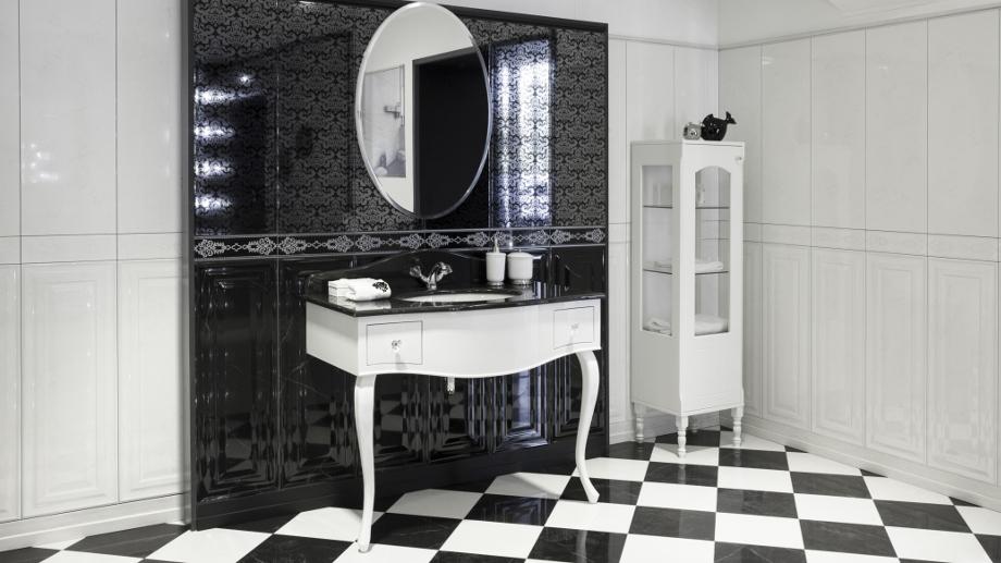 Čiernobiela kúpeľňa - klasická a štýlová